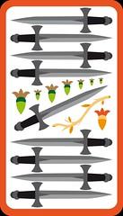 9 d'Épée (aluniverse) Tags: bâtons coupes épées deniers tarotdemarseille arcanesmineurs arcanemineur 56cartes