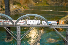 CG439 Train on Bridge (listentoreason) Tags: usa america canon newjersey model modeltrain unitedstates favorites places diorama northlandz scalemodel modelrailroad hoscale ef28135mmf3556isusm score20 hoscalemodelrailroad