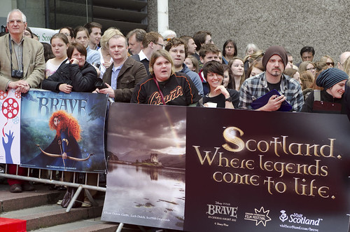 General scenes outside the Festival Theatre for the European premiere of Brave