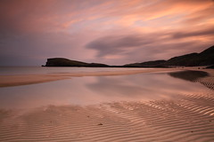Sunset Beach. (Gordie Broon.) Tags: ocean sunset sea summer sky seascape beach nature clouds reflections geotagged photography scotland sand scenery alba scenic escocia ripples schottland ecosse scottishhighlands kinlochbervie sutherlandshire northwestscotland oldshoremore canoneos7d gordiebroon