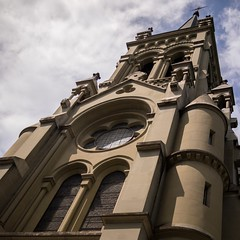 St. Peter and Paul, Bern (haslo) Tags: urban architecture clouds pen switzerland olympus bern ep3
