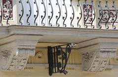 (:Linda:) Tags: germany town balcony bracket thuringia corbel eisenberg flagholder volute fahnenhalter kragstein
