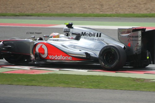 Lewis Hamilton in his McLaren during the 2012 British Grand Prix at Silverstone