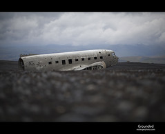 Grounded (esslingerphoto.com) Tags: travel sky usa cloud black abandoned beach up plane airplane iceland sand aluminum exposure dof shot crash united gray 100mm landing helicopter abandon single states wreck douglas emergency dc3 volcanic salvage usnavy warplane urbex slheimasandur c117d mcdonnelldouglasdc3 esslingerphotocom