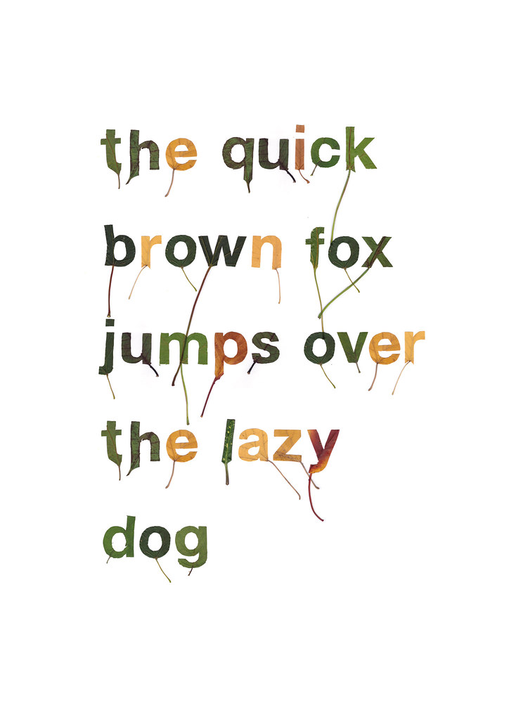 The World's most recently posted photos of pangram and type