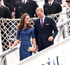Catherine, Duchess of Cambridge aka Kate Middleton and Prince William, Duke of Cambridge arrive at Champlain Harbour Station to attend a morning pray service, during their Royal Tour 2011 Quebec City, Canada