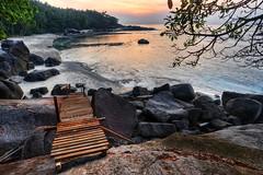 The Path to LBR Lagoon (Shamsul Hidayat Omar) Tags: travel bridge tourism beach sunrise landscape island photography rocks path lagoon malaysia hdr highdynamicrange batu pulau johor mersing photomatix 9exp nikond3 lantingbeachresort pulaupemanggil shamsulhidayatomar lbrlagoon