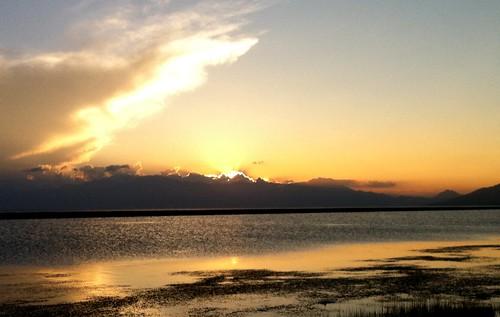 赛里木湖日落