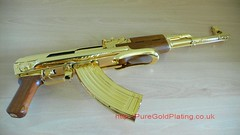 Gold Plated AK47 a (PureGoldPlating) Tags: goldplated goldplating explosivedevices goldguns goldplatedfirearms goldplatedgrenades goldexplosives goldplatedweapons