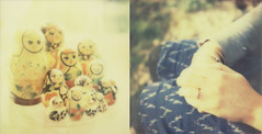 (mister sullivan) Tags: film polaroid engagement diptych dolls ring instant russian whynot px70colorshadecool roidweek2012