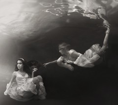 ~ ~ ~ (Kathleen Wilke Photography) Tags: reflection sepia nikon underwater aquatica soulscapes