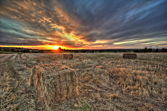 SUNSET (matty257) Tags: sunset sky sun field clouds sunrise straw most views popular bale hdr millionviews mostviewedonflickr themostviewed