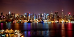 New York City on August 26, 2012 (mudpig) Tags: city nyc newyorkcity longexposure panorama ny newyork reflection ferry skyline night marina reflections geotagged boat newjersey dock cityscape pano timessquare esb bankofamerica hudsonriver empirestatebuilding empirestate gothamist chryslerbuilding edgewater hdr hoboken newyorktimes barclay weehawken allianz unionhill newyorkwaterway mudpig stevekelley stevenkelley