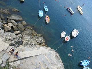 Beach front at Riomaggiore, Cinque Terre, Italy