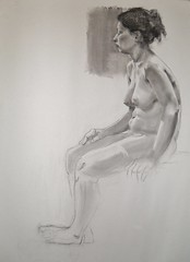 Desenho de modelo vivo (Luana Manhães) Tags: drawing charcoal livemodel