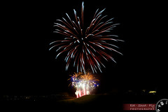 Fireworks illuminate the park (Adrian Court LRPS) Tags: park night miltonkeynes fireworks rockets beacon bonfirenight guyfawkesnight campbellpark parkstrust keithemmett