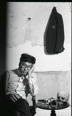 taichi (Ren Sterling) Tags: uk portrait england film 35mm nikon vision taichi f4 daruma ilfordhp5plus 55mmf28micro