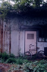 aging (+akane+) Tags: leica old house film bicycle analog rust decay age 135