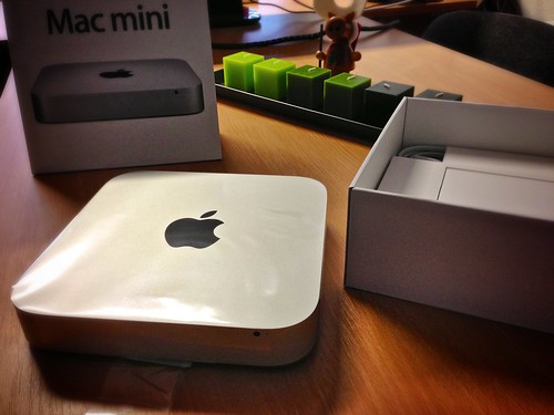 Unpacking Mac Mini Late 2012
