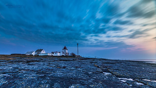 Tungenes Lighthouse during Blue Hour