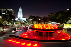 DSC_0021 (bherrero13) Tags: park city longexposure nightphotography fountain night buildings la losangeles nikon downtown cityhall nighttime citylights downtownla downtownlosangeles grandpark d5100 nikond5100