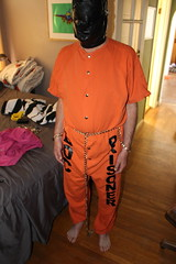 IMG_7877 (bob.laly) Tags: uniform chain jail shackles padlock handcuffs prisoner jumpsuit inmate