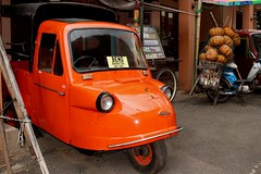 1967 BEMO ~ Trimobile made by Daihatsu, Japan (Prayitno / Thank you for (10 millions +) views) Tags: public museum indonesia java early outdoor tricycle taxi days east transportation jawa batu motorized timur bemo angkut konomark trimbile