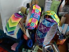 Colorful chaos (Dasssa) Tags: paper square origami colorful modular harmony bracelet dasssa paperain