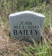 John Bailey Headstone (eloisedv) Tags: oklahoma cemetery headstone gravemarker cartercounty