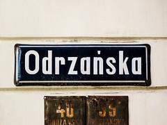 Wrocaw (isoglosse) Tags: sign streetsign poland polska schild polen sansserif wrocaw breslau znak kreska strasenschild tabliczkaznazwulicy
