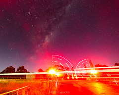 Not quite according to plan! (nightscapades) Tags: sky moon night stars berry railway trains astrophotography astronomy nightscapes milkyway galacticcore