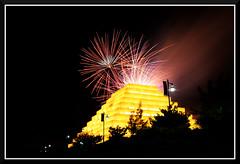 Fireworks_0279 (bjarne.winkler) Tags: from ca cats game west building home river fireworks side sacramento behind ziggurat