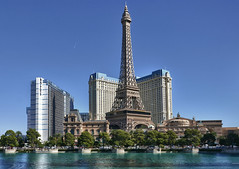 The Paris (Preston Ashton) Tags: vegas blue sky usa paris tower sunshine america hotel us desert lasvegas nevada eiffeltower sunny eiffel casino replica northamerica gamble shootingstar theparis