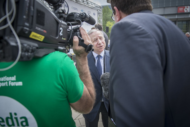 Jean Todt speaks to the media