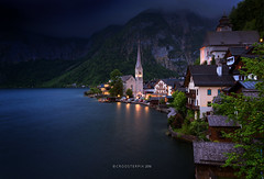 Calm before the Storm (Croosterpix) Tags: travel blue lake landscape hallstatt croosterpix