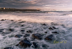 Low Tide Rocks at Sunrise.jpg (Eye of G Photography) Tags: ocean usa beach water oregon sunrise sand waves pacific jetty driftwood northamerica bandon rockformations slowshutterspeed skyclouds silkywater splashingwaves pilchuckcc