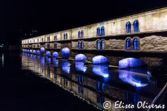 Strasbourg's Enchanted bridge (Eliseo Oliveras) Tags: eliseooliveras eliseooliveras alsace france strasbourg barragevauban vauban urban city street people francia estrasburgo europe europa ue eu architecture bridge lock frana jacquestarade military history lights illumination