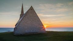Sunset at Chapelle Notre-Dame de la Garde (Seval Aydoan) Tags: frankreich normandie fr tretat