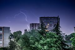 Lightning (Sevan Pehlivanian) Tags: paris france colors lightning nuit orage puteaux clair