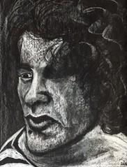 Richard (Gila Mosaics n'stuff) Tags: portrait bw art artist monochromatic onblack portraitparty jkpp