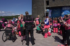 Breast Way Round 2016 (Sybalan,) Tags: charity family pink summer people dedication canon fun reflecting scotland colorful dancing outdoor feathers cancer sunny kind event mohawk hugs familyfun care fundraising motorbikes lochlomond macmillan mohican lomondshores remeberance 500miles breastwayround httpsybalanphotographyweeblycom bestbracompetition
