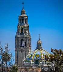 Museum of Man and California Bell Tower at Balboa Park San Diego CA (mbell1975) Tags: california park ca city usa man building tower museum america buildings us san unitedstates expo sandiego bell diego fair calif belltower exposition cal american balboa turm parc