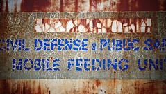 immobile (jtr27) Tags: old truck entropy sony maine newengland sigma dna wabisabi junkyard lettering civildefense alpha 60m f28 ilc coldwar patina csc dn craquelure nex ilce machiasport mirrorless dsc09362 emount nex6 jtr27 sigmaart mobilefeedingunit