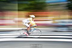 """marraz"" (aner.mentxaka) Tags: color colour bicycle horizontal movement stripes creative stripe bicicleta movimiento raya panning bizikleta marra barrido creativo kolore paneo horizontally mugimendu sortze ekorketa"