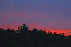 DSC_0045revi (junjiaoyama) Tags: sunset cloud castle japan landscape