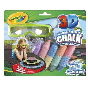 Crayola 绘儿乐儿童3-D彩绘粉笔 + 3D眼镜套装$6.5