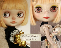 Before and After - my ooak Blythe