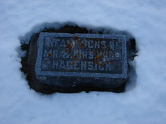 Infant sons of Will Hagensick (Philip Weiss) Tags: grave genealogy mcgregoriowa pleasantgrovecemetery