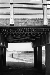 (Barry Yanowitz) Tags: ocean nyc newyorkcity blackandwhite bw usa ny newyork slr film beach brooklyn 35mm coneyisland pier blackwhite sand kodak trix d76 35mmfilm scanned boardwalk filmcamera canonae1 nycity selfdeveloped 718 kodaktrix400 coneyislandpier steeplechasepier selfdeveloping d76developer