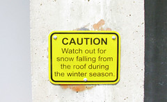 Wisconsin Winter Warning (ohpapercut) Tags: winter snow sign wisconsin ohpapercut